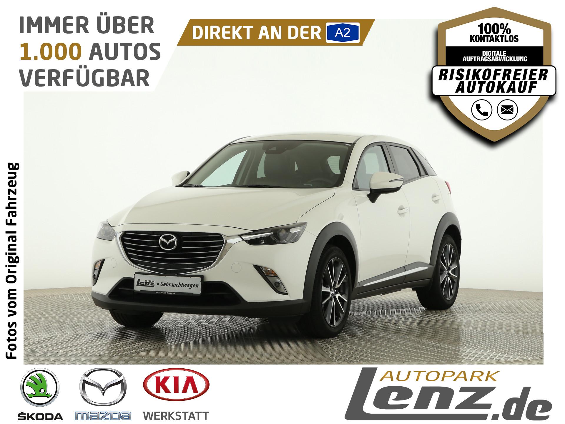 Mazda CX-3 Sports-Line LED Navi HUD Kamera SHZ FSE DAB, Jahr 2017, Benzin