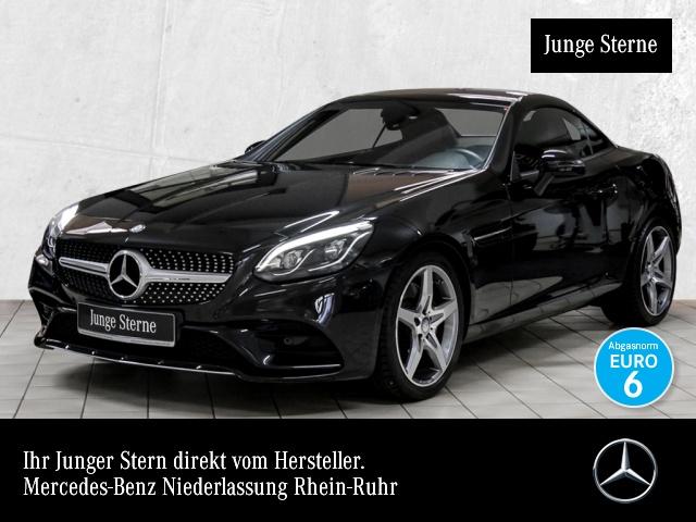 Mercedes-Benz SLC 180 AMG Pano ILS LED Navi Totwinkel PTS Sitzh, Jahr 2016, petrol