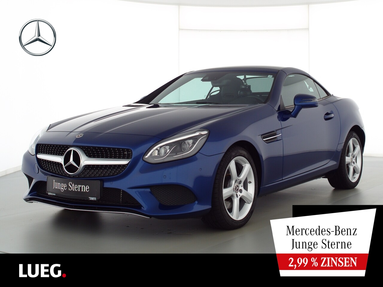 Mercedes-Benz SLC 200 Navi+PanoV+LED-ILS+AIRSCARF+SHZ+Totw+PTS, Jahr 2020, Benzin