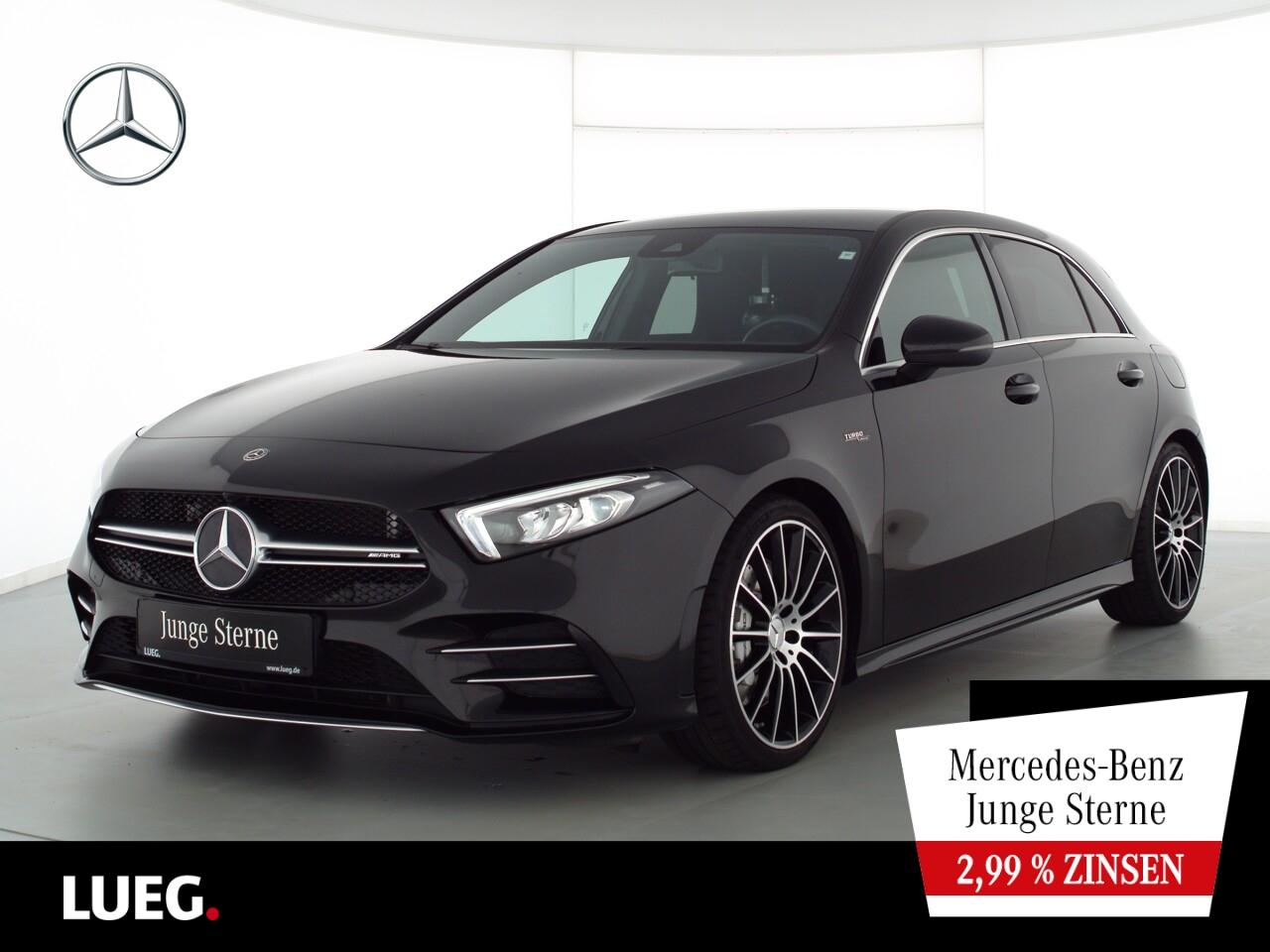 Mercedes-Benz A 35 AMG 4M MBUX+NavPrem+LED-HP+19''AMG+SHZ+Spur, Jahr 2019, Benzin