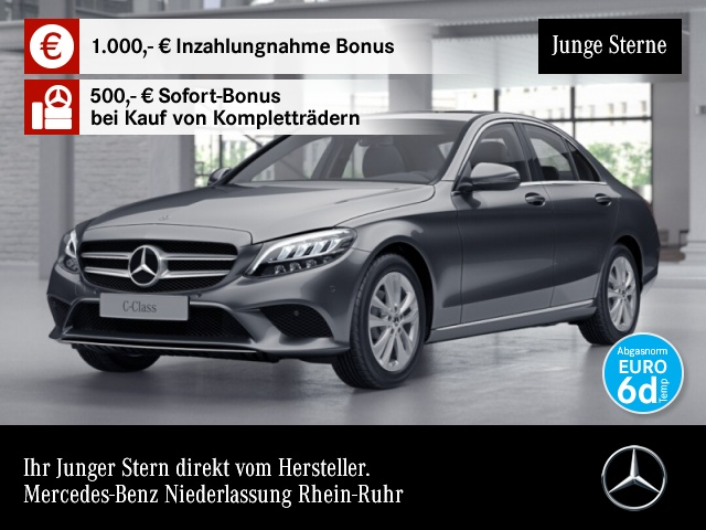 Mercedes-Benz C 180 Avantgarde SHD LED Kamera Spurhalt-Ass PTS, Jahr 2019, Benzin