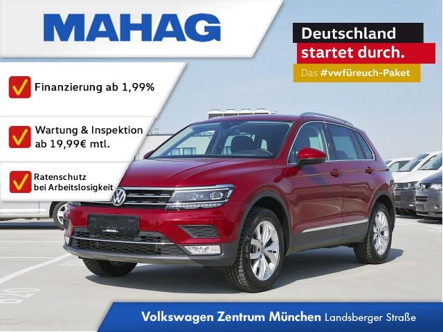 """Volkswagen Tiguan Highline 2.0 TSI 4 Motion DSG Navigationssystem """"Discover Media"""" LED-Scheinwerfer Head-up-Display Gepäckraumklappe mit elektrischer Öffnung ParkPilot Klimaanlage """"Air Care Climatronic"""", Jahr 2017, petrol"""