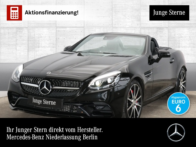 Mercedes-Benz SLC 43 AMG Handling Package Pano Harman ILS PTS, Jahr 2018, petrol