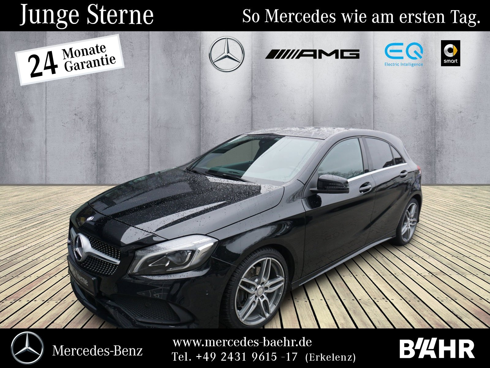 """Mercedes-Benz A 220 d AMG/Navi/LED-High/Pano/Park+RFK/LMR-18"""", Jahr 2016, diesel"""
