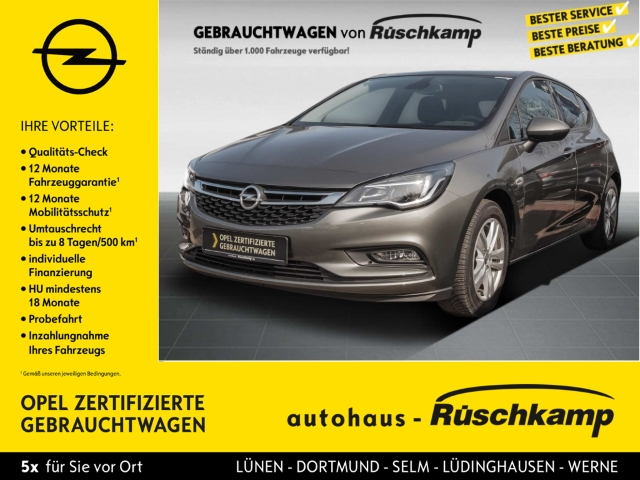 Opel Astra K Active 1.4 Turbo Winterpaket Garantie LED-Tagfahrlicht Multif.Lenkrad RDC Klima, Jahr 2016, Benzin