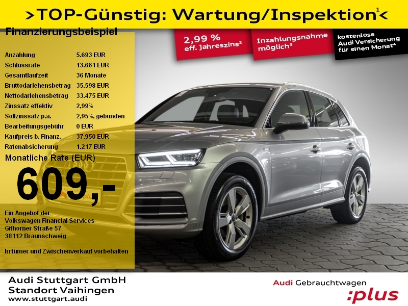 Audi Q5 sport 2.0TDI quattro S line LED Navi Side AHK, Jahr 2017, Diesel