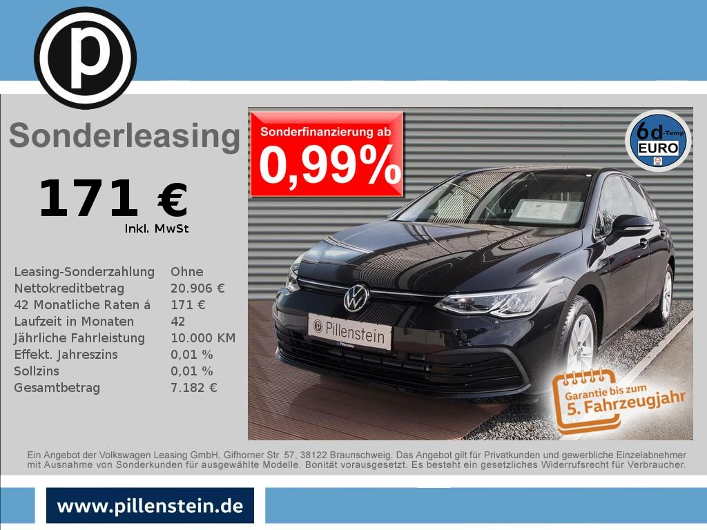 Volkswagen Golf 8 1.5 TSI Life LED ACC DAB+ NAVI SITZH PDC+, Jahr 2020, Benzin