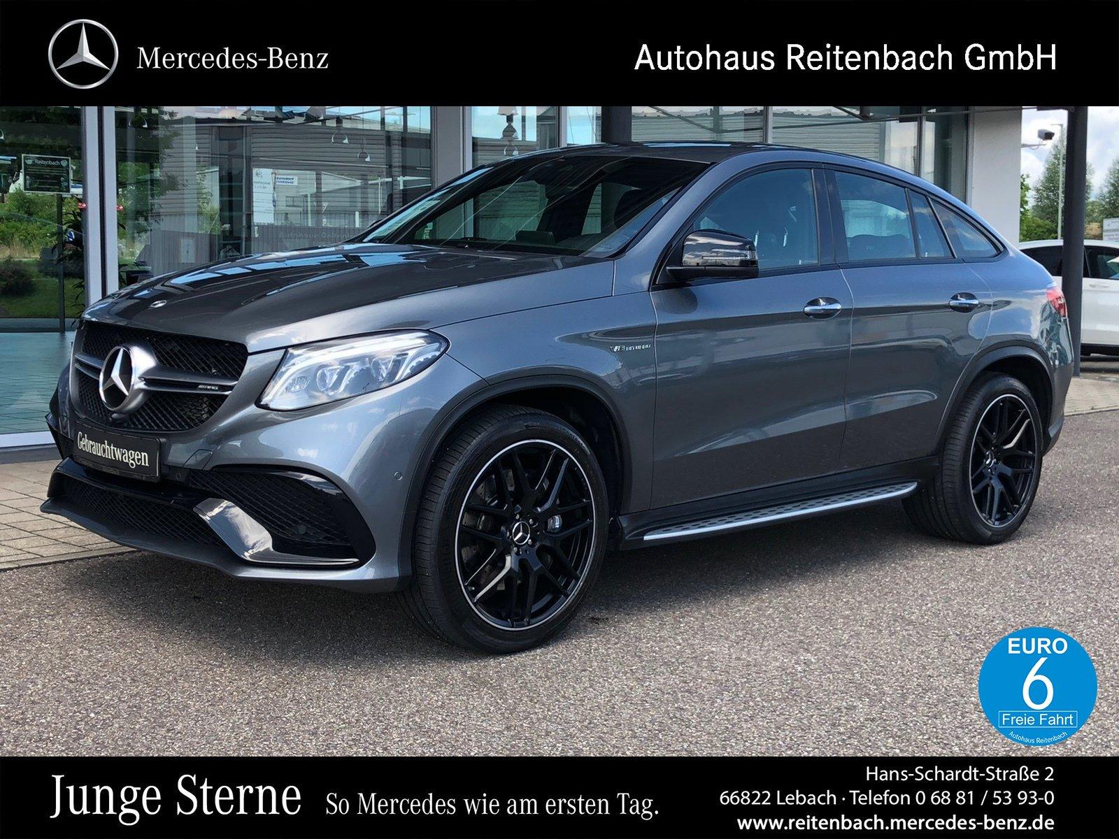 Mercedes-Benz GLE63 4M Cp. AMG+360°+H&K+NIGHT +MEMO+ILS+SITZKL, Jahr 2018, Benzin