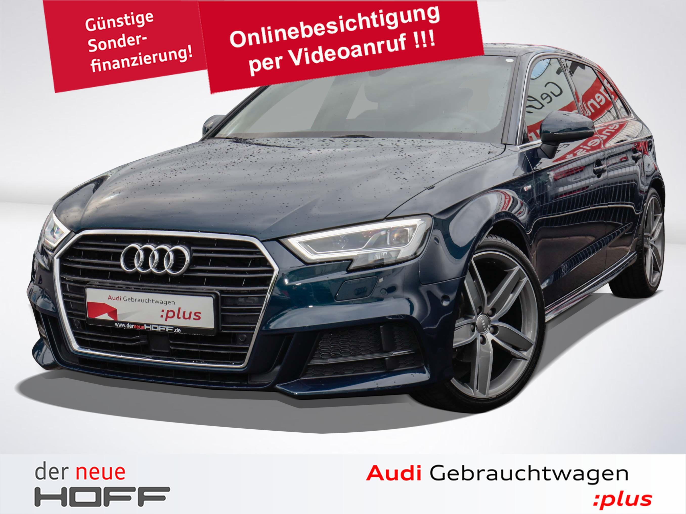 Audi A3 Sportback sport S line 19 Zoll LED Scheinwerf, Jahr 2017, Diesel