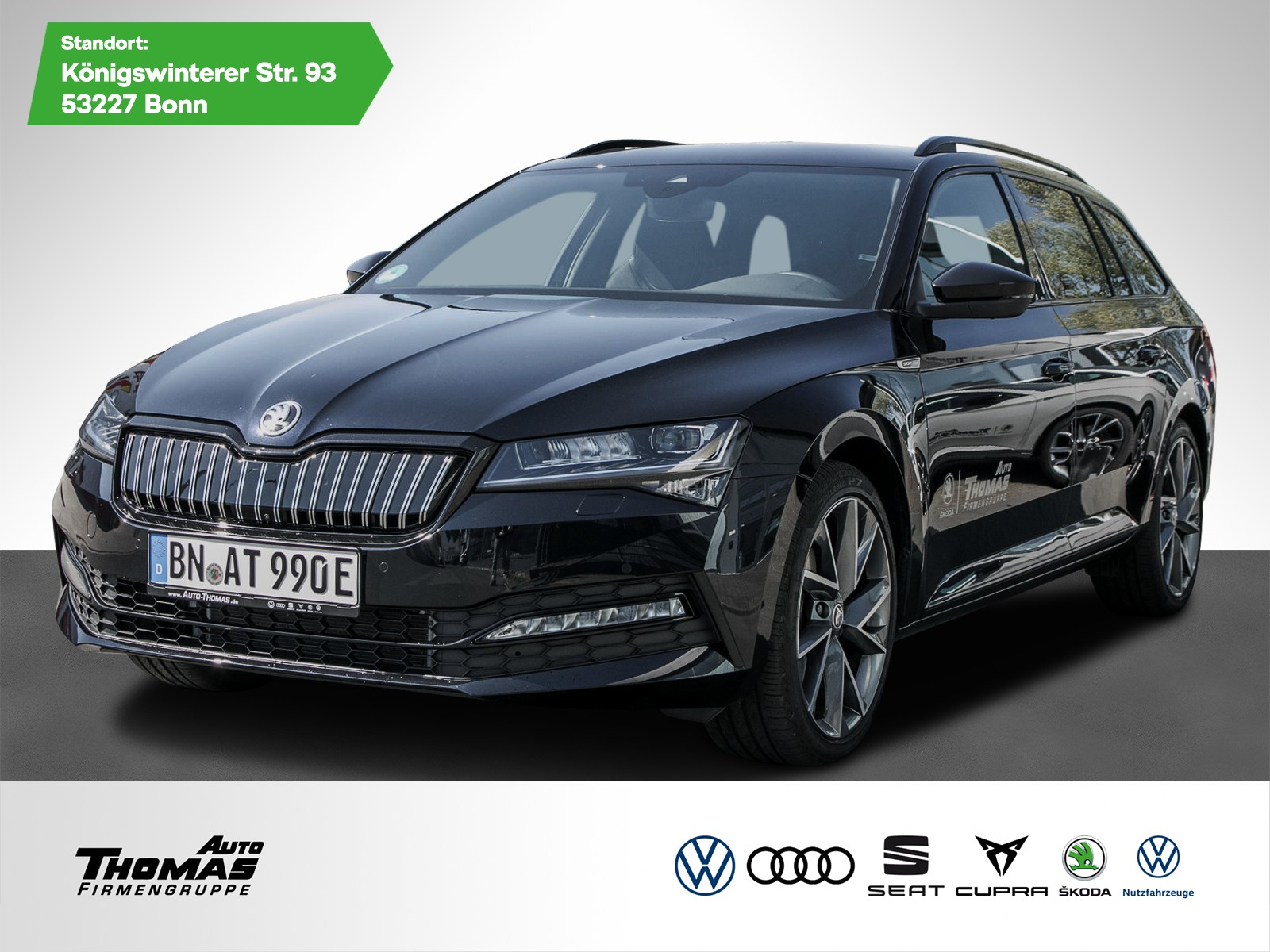 Skoda Superb Combi Sportline 1.4 TSI iV DSG +LED MATRIX+NAVI+AHK+ACC+, Jahr 2020, Hybrid