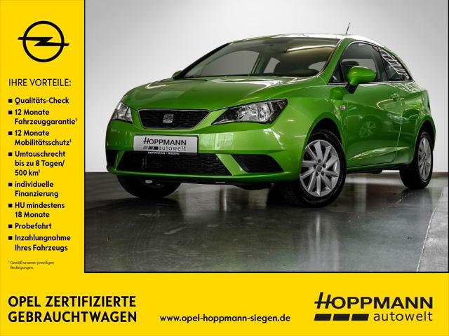 Seat Ibiza SC Stylance Style 1.2 12V RDC Klima ESP Spieg. beheizbar Seitenairb. BC Scheckheft, Jahr 2012, petrol
