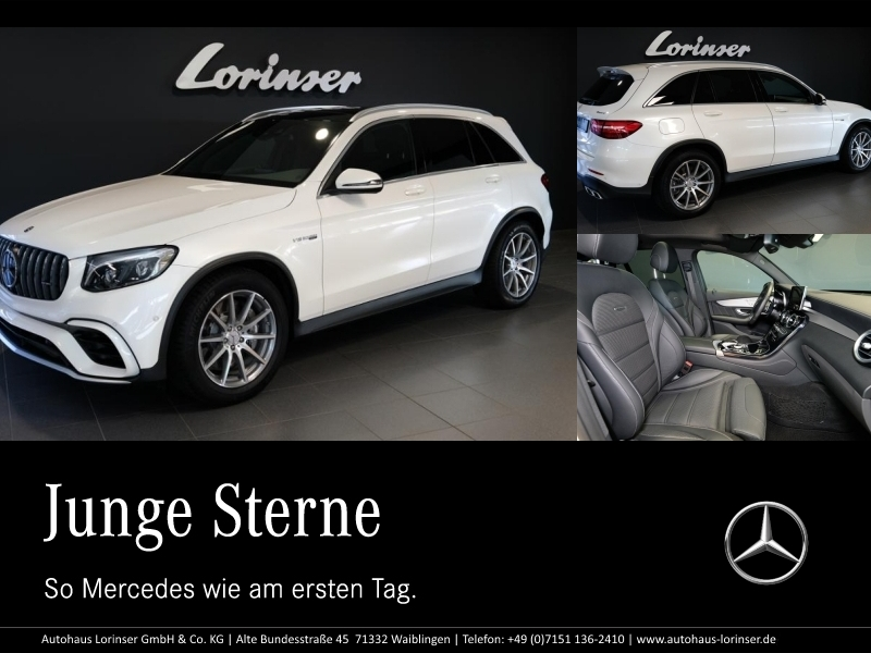 Mercedes-Benz GLC 63 AMG 4M+ PANO/DISTRONIC/AHK/MEMORY/NAVI, Jahr 2017, Benzin