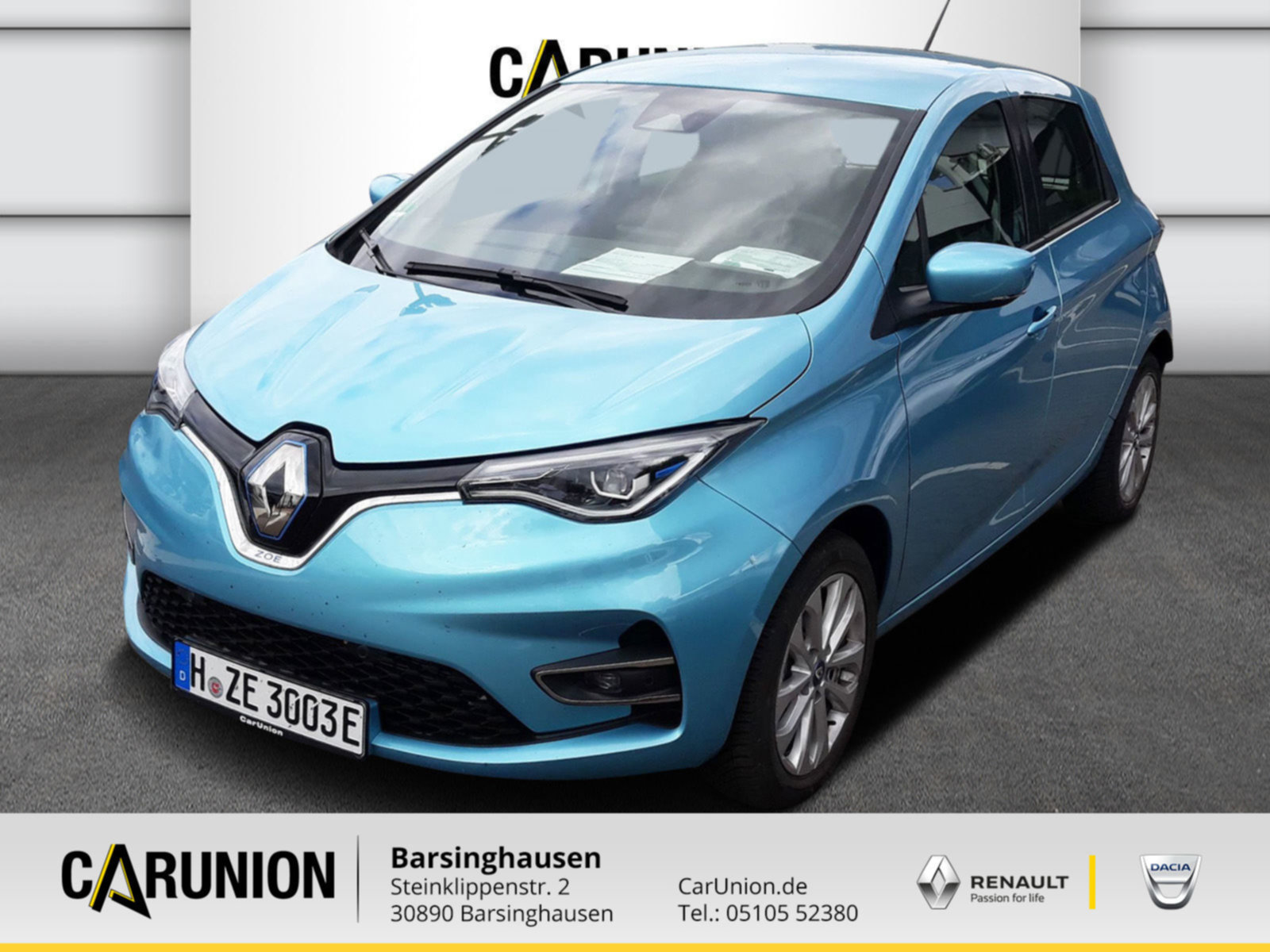 Renault ZOE EXPERIENCE Batteriemiete R135 Z.E. 50, Jahr 2020, Elektro