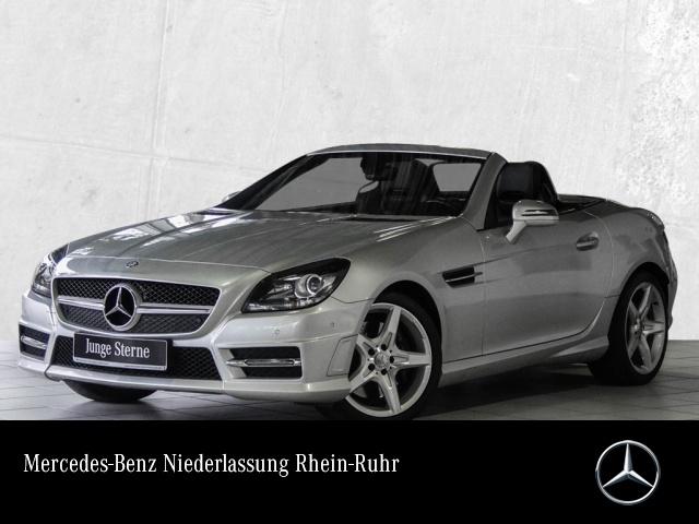 Mercedes-Benz SLK 200 BE AMG Pano Airscarf Navi EDW PTS Sitzh, Jahr 2013, petrol