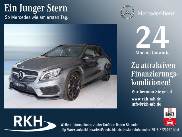 Mercedes-Benz GLA 45 AMG Night-Paket/Comand/Panor./Kamera/Totw, Jahr 2014, petrol