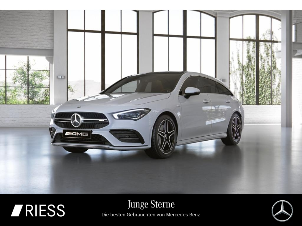 Mercedes-Benz CLA 35 AMG 4M SB Navi LED Pano AHK MBUX Kamera A, Jahr 2019, Benzin