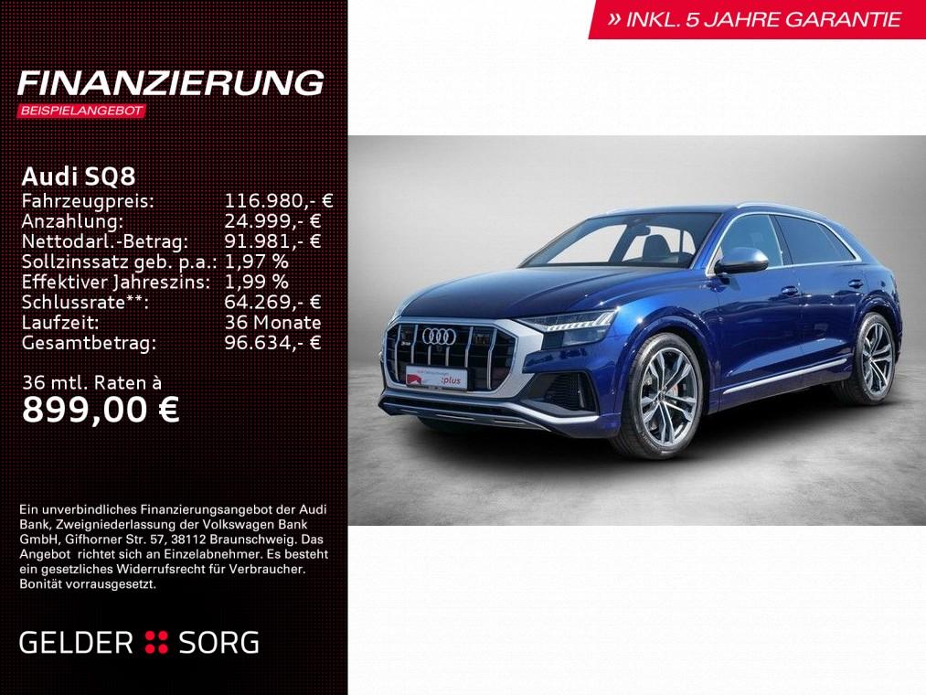 Audi SQ8 4.0 TFSI Keramik*Wankstab.*B&O*Matrix*Sitzkl, Jahr 2020, Benzin