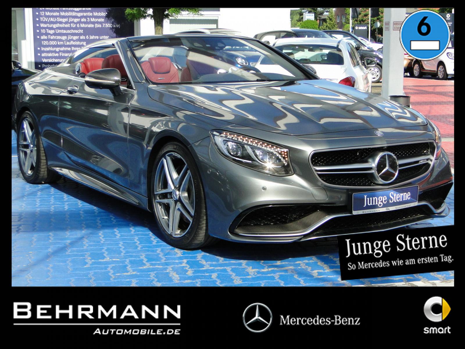 Mercedes-Benz S 63 4M Cabrio ++360°+Driver's Package+Carbon++, Jahr 2016, Benzin