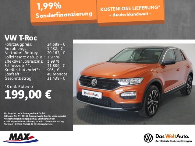 Volkswagen T-Roc 1.5 TSI UNITED NAV+ALU+PDC+SITZHZ+LANE ASS, Jahr 2020, Benzin