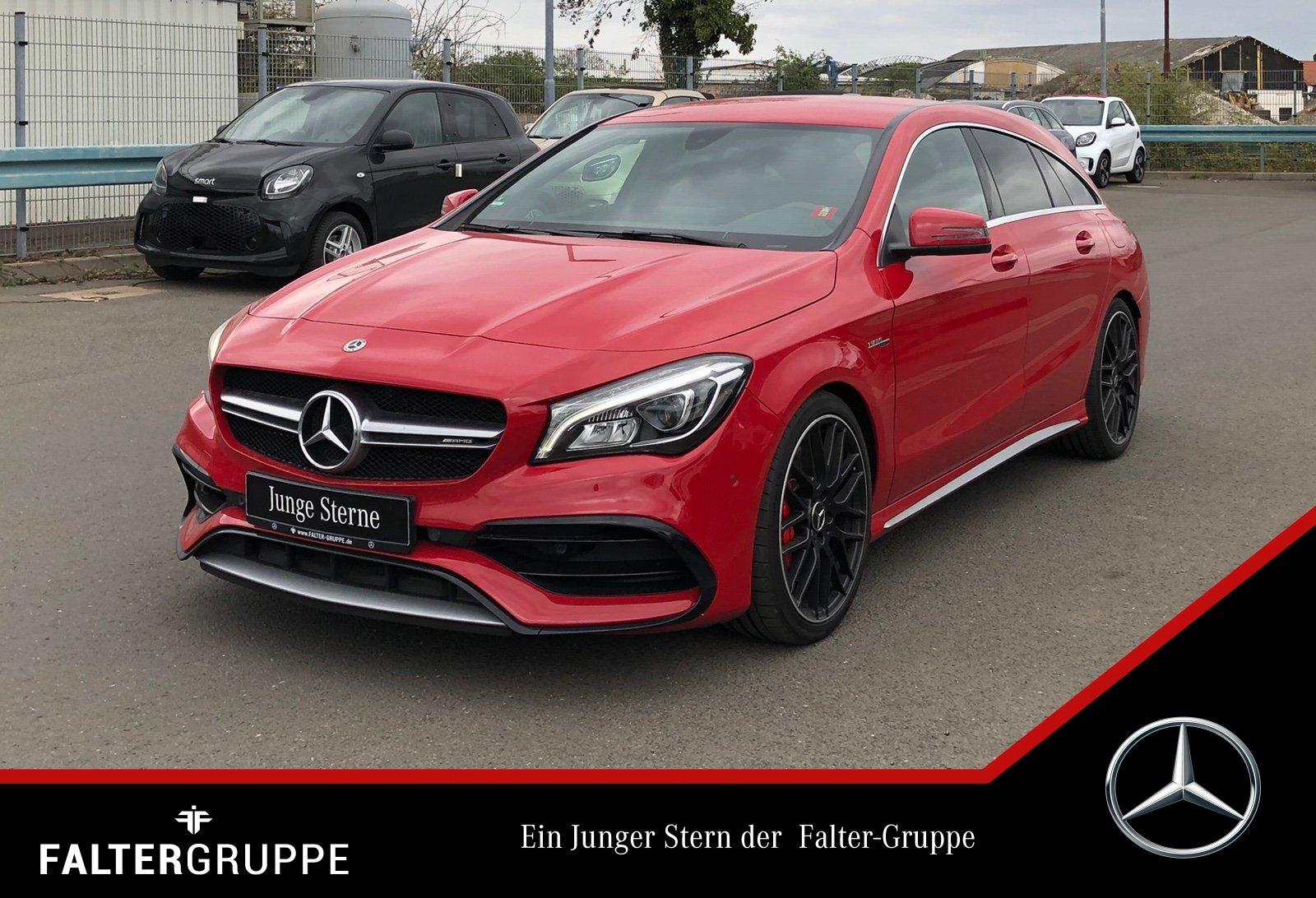 "Mercedes-Benz CLA 45 SB Perf-Sitze/AbGas HK-Hifi LED Busin 19"", Jahr 2018, petrol"