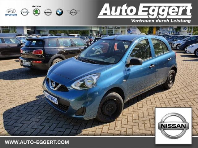 Nissan Micra Visia First 1.2 Multif.Lenkrad RDC Klima CD Seitenairb. met. Radio Airb ABS Servo, Jahr 2014, Benzin