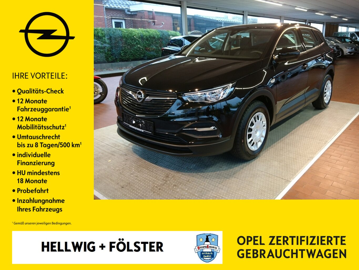 Opel Grandland X 1.2 Turbo Selection, Jahr 2019, Benzin