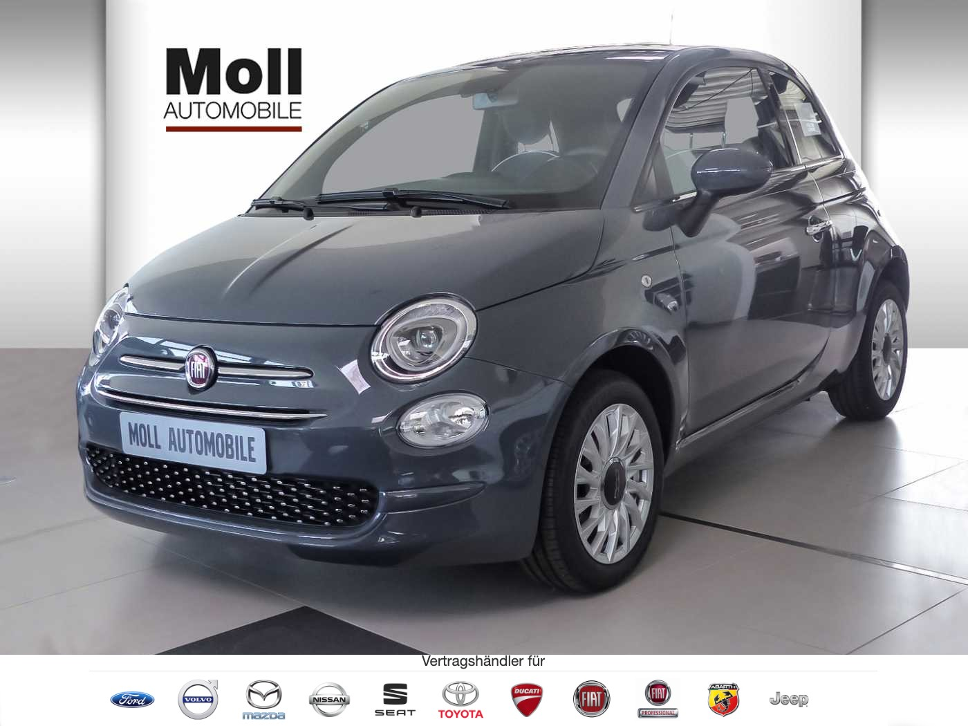 Fiat 500 Serie 7 Lounge PDC, Klima, 7' Radio, Alu, Apple CarPlay, Jahr 2018, Benzin