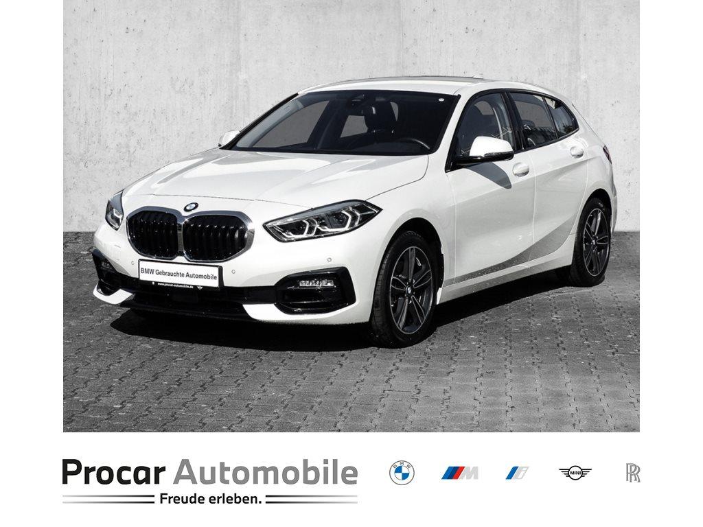 BMW 116i SPORT LINE+NAVI PLUS+AUTOMAT+LED+DAB+SPORTSIT+SHADOWL+17 LMF+WLAN+Finab0,01%, Jahr 2021, Benzin