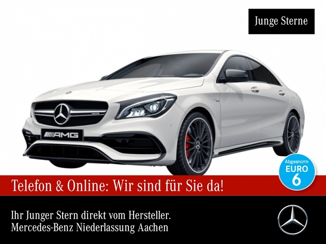 Mercedes-Benz CLA 45 4MATIC Coupé Sportpaket Navi LED Klima, Jahr 2017, Benzin