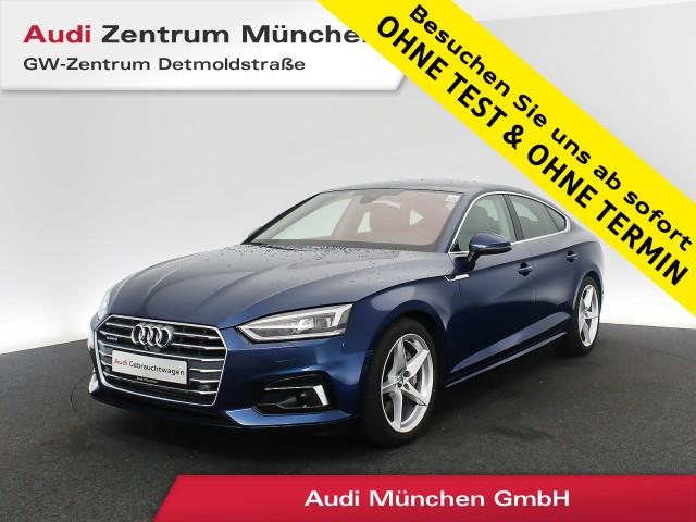 Audi A5 Sportback 2.0 TFSI qu. Sport HUD AHK Virtual MatrixLED Navi Leder ACC Parkassistent S tronic, Jahr 2018, Benzin