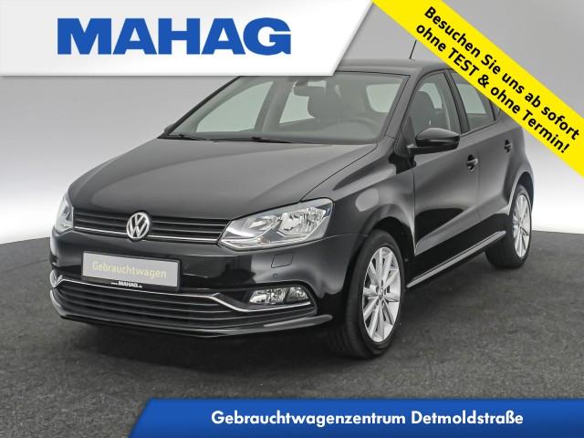 Volkswagen Polo HIGHLINE 1.2 TSI Navi ParkPilot Tempomat Bluetooth 16Zoll 5-Gang, Jahr 2017, Benzin
