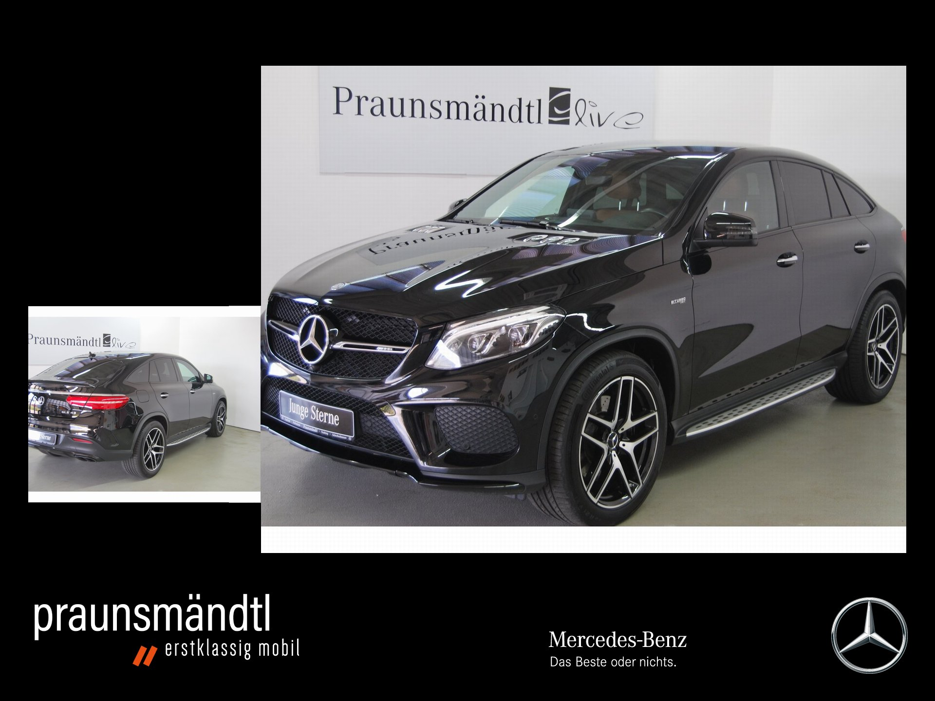 Mercedes-Benz GLE 43 AMG 4M CP Night/Comand/LED/AHK/360/Airmat, Jahr 2017, Benzin