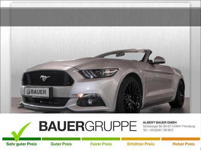Ford Mustang 5.0 Ti-VCT V8 Convertible GT Sportpaket, Jahr 2017, petrol
