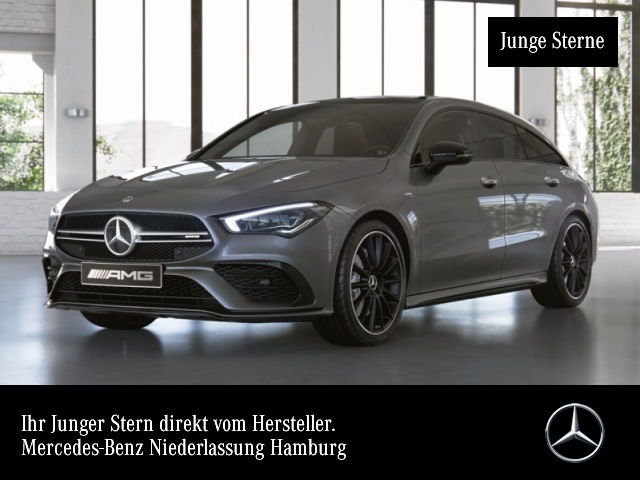 "Mercedes-Benz CLA 35 AMG SB AeroPaket Pano Night Multibeam 19"", Jahr 2019, petrol"