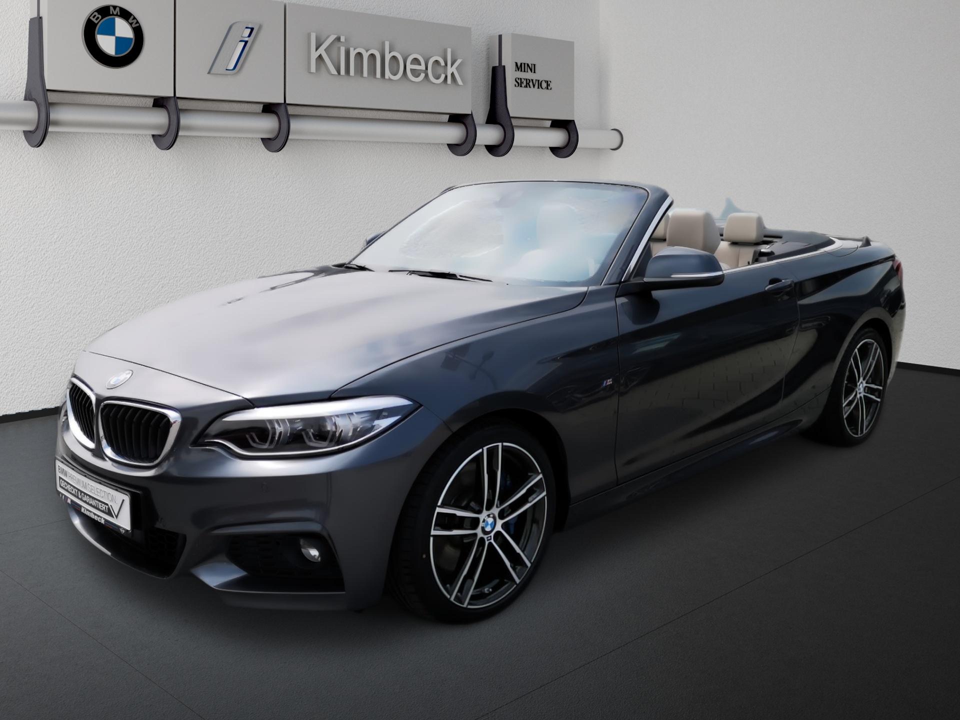 BMW 230i Cabrio M SPORT Navi Leder LED ACC AHK, Jahr 2020, Benzin