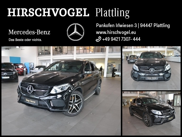 Mercedes-Benz GLE 43 AMG 4M Night+AIRMATIC+Navi+ILS+360°-Kam, Jahr 2017, Benzin