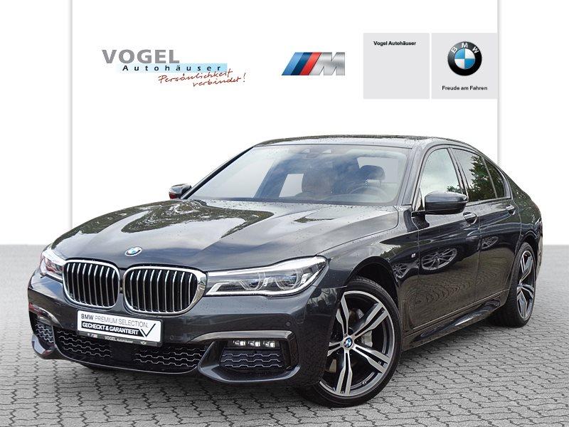 BMW 740d xDrive Limousine M Sportpaket Euro 6 Navi Prof Head-Up Display RFK Driving Assistant Plus Parkassistent Klima Shz BMW Laserlicht Glasdach elektr. Ambientes Licht, Jahr 2017, Diesel