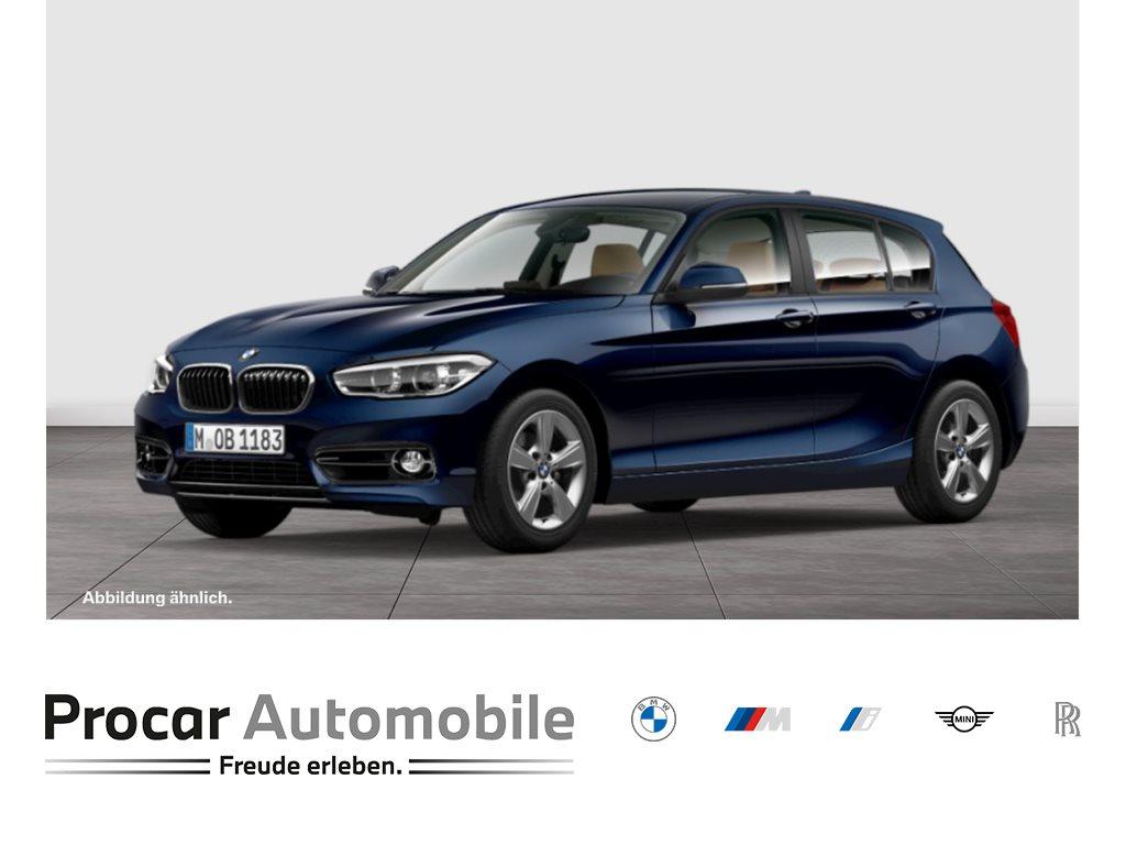 BMW 118i 5-Türer Aut. Sport Line Leder Klimaaut. LED, Jahr 2018, Benzin