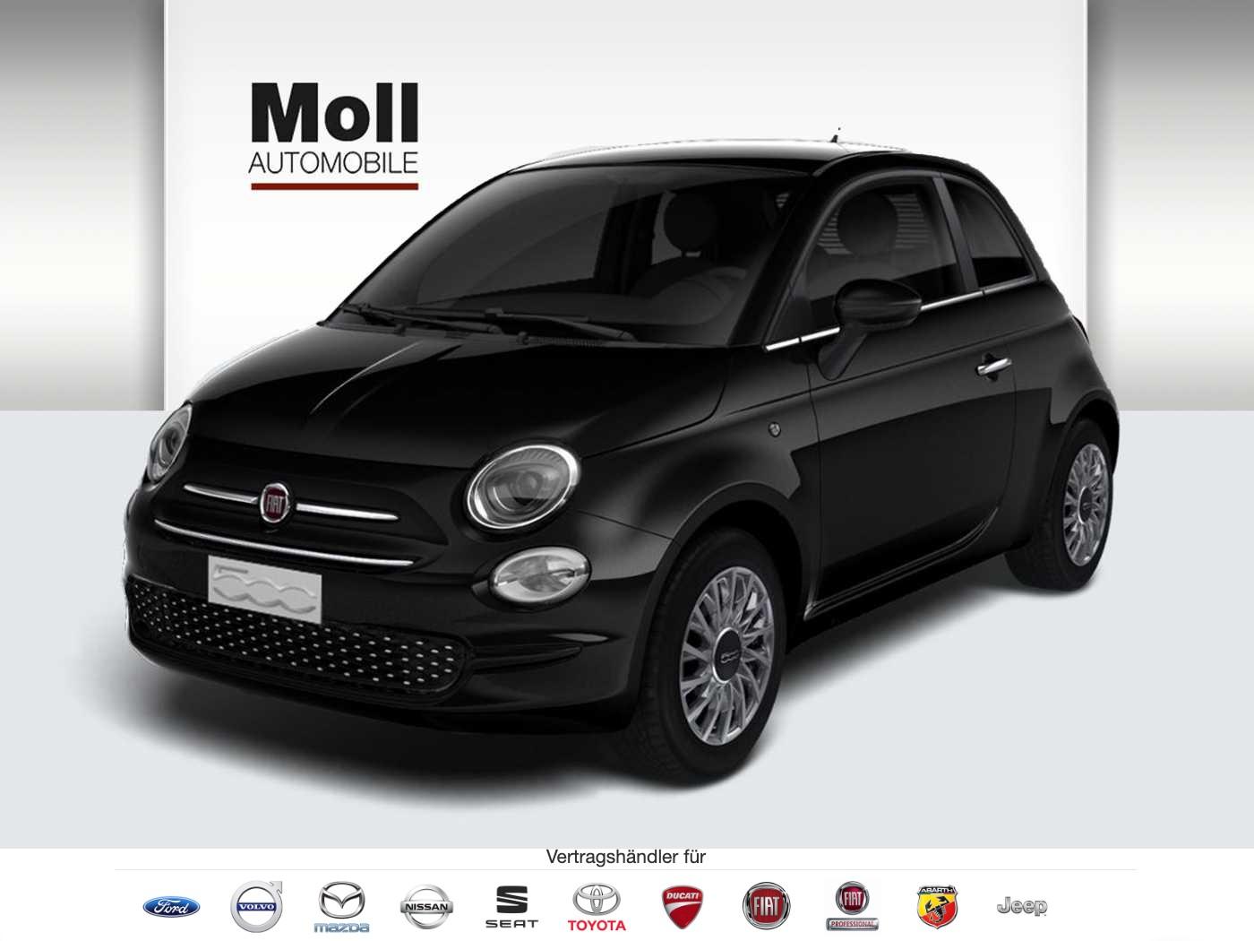 Fiat 500 Serie 7 Apple CarPlay, Klima, Bluetooth, Alu, Vesuvio schwarz '2020', Jahr 2019, Benzin