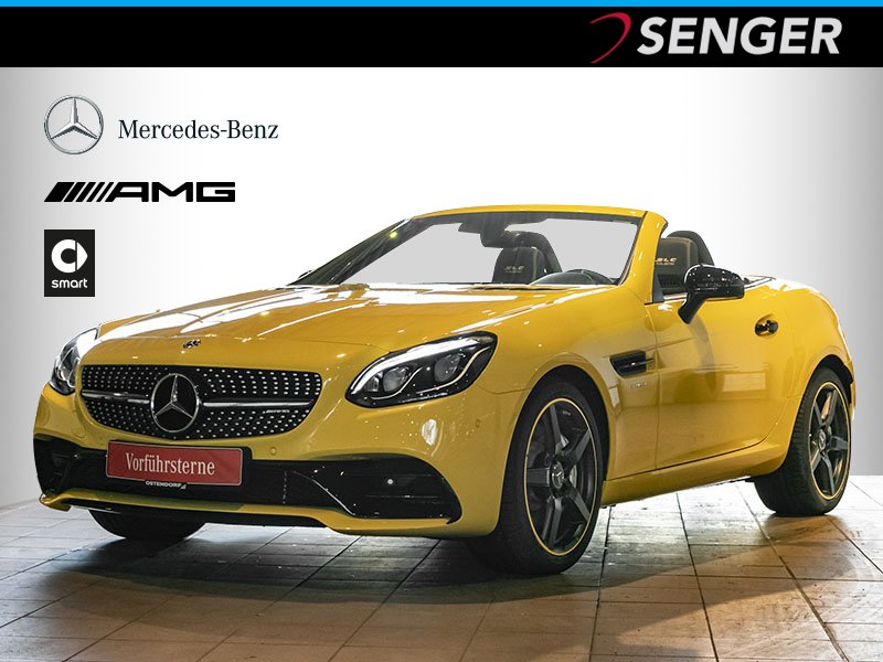 Mercedes-Benz SLC 43 AMG Final Edition*Comand*LED*Airscarf*PTS, Jahr 2019, petrol