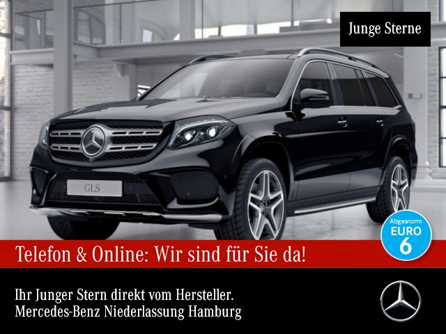 Mercedes-Benz GLS 500 4M AMG 360° Airmat Pano Harman Distr. AHK, Jahr 2017, Benzin