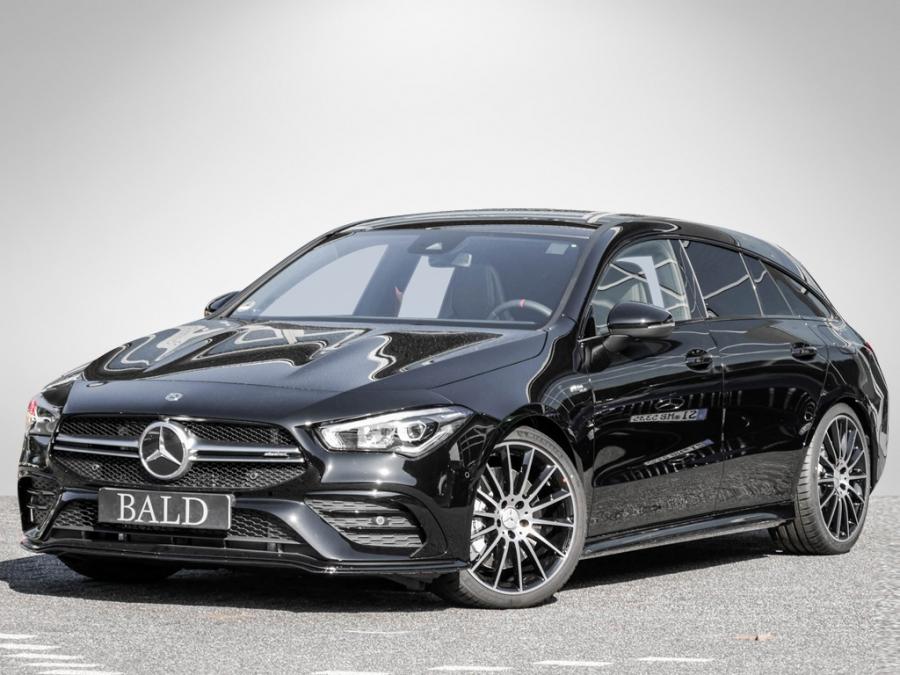 Mercedes-Benz CLA 35 AMG 4M SB Navi/LED/Pano/Burm/Aero/Cam/L&S, Jahr 2019, petrol