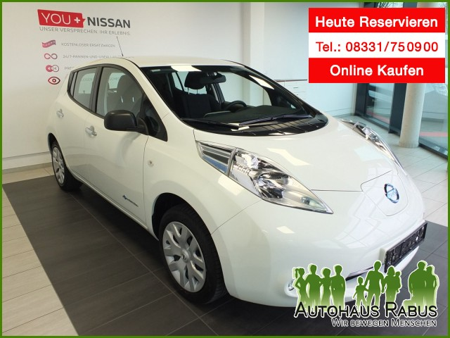 Nissan Leaf Visia 24KW, ESP,(inkl Batterie), CD-Spieler, Jahr 2016, Elektro