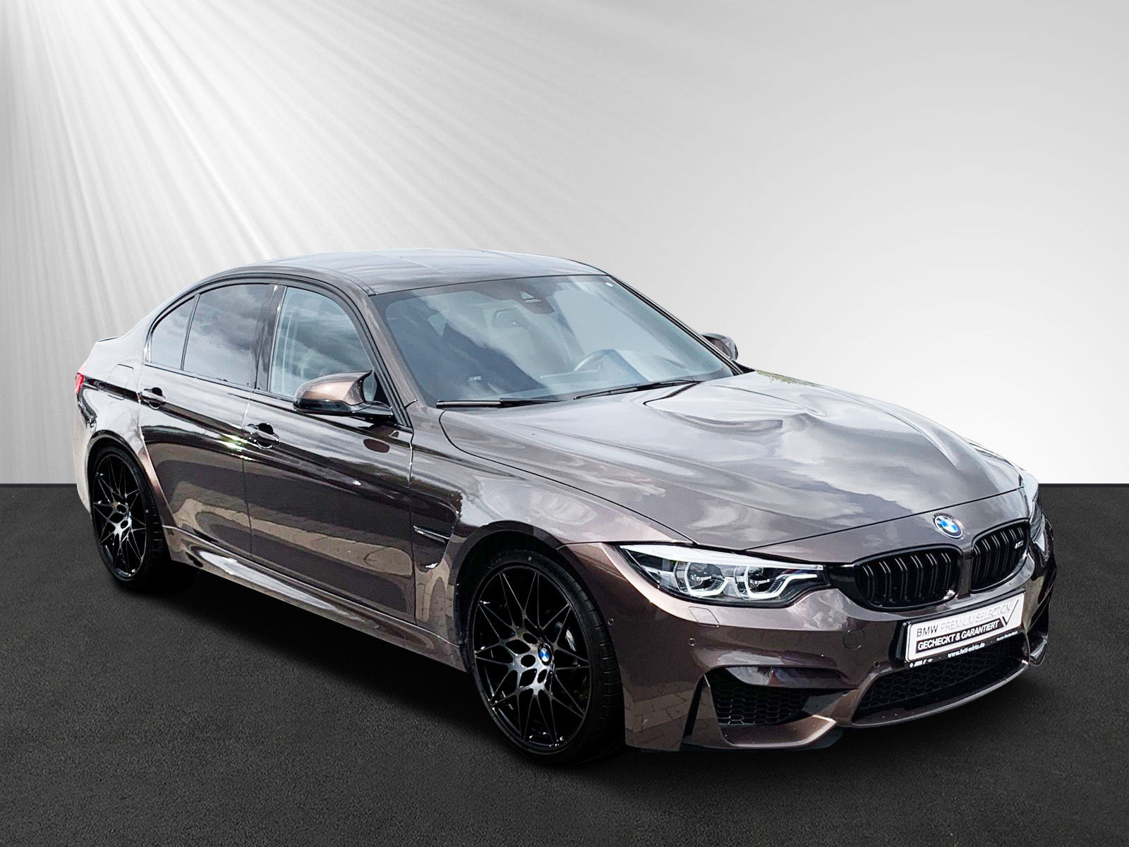 BMW M3 Competition ''Individual''Macadamia HUD Komf., Jahr 2018, petrol