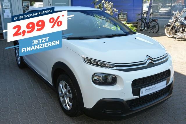 Citroën C3 Pure Tech 82 LIVE Klima Sitzh. PDC Spurass. shg, Jahr 2017, Benzin