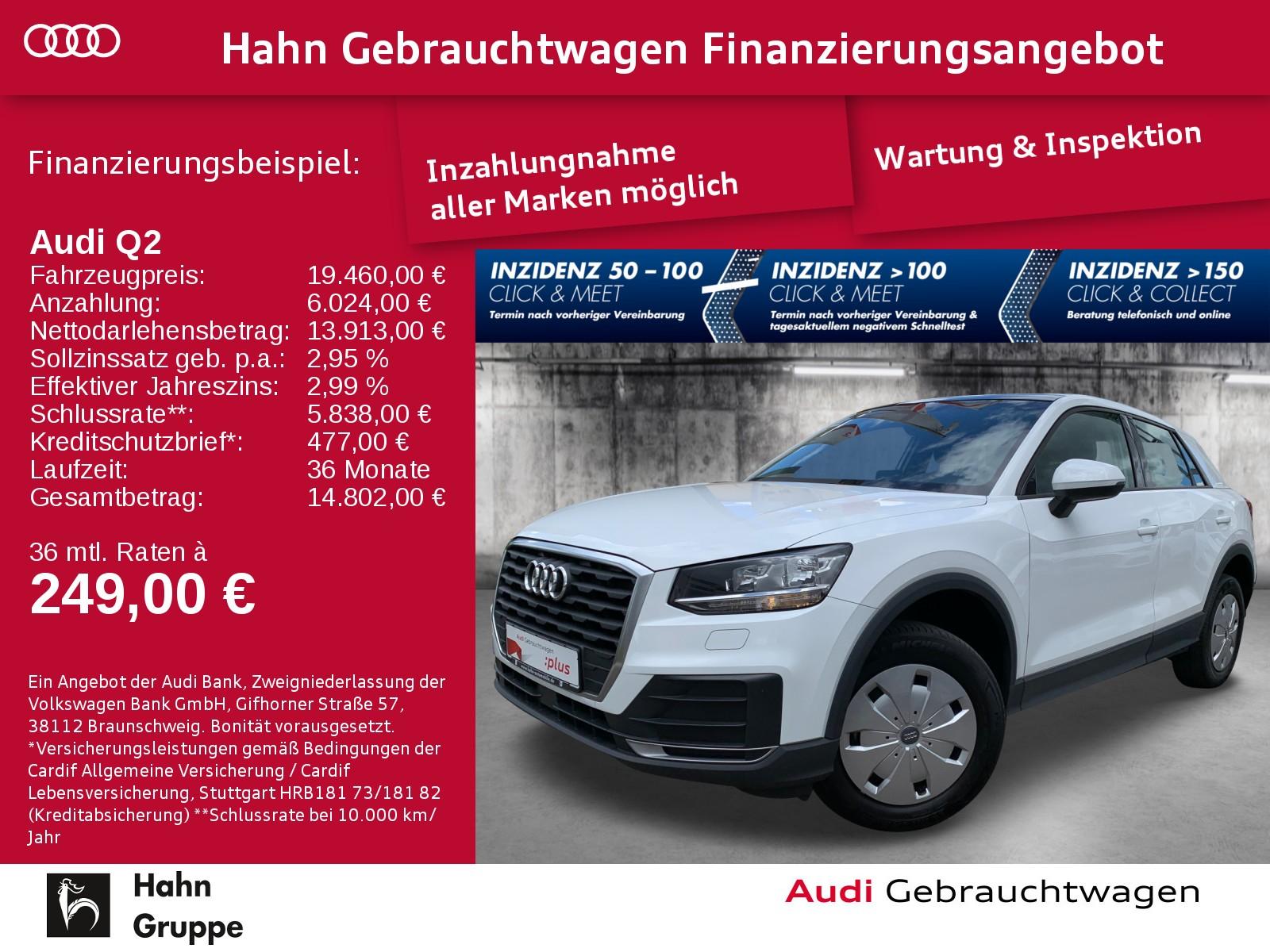 Audi Q2 1.0 TFSI Pano Sitzh Einpark Klima Radio, Jahr 2018, Benzin