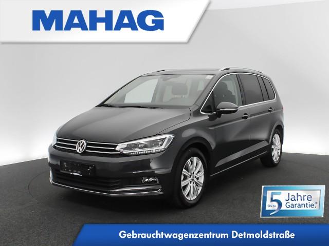 Volkswagen Touran 1.5 TSI Highline 7-Sitzer Navi LED eKlappe Panorama DSG, Jahr 2020, Benzin