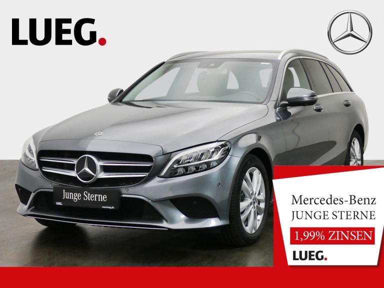 Mercedes-Benz C 180 T Avantgarde+Navi+LED-HP+Mem+CarP+SHZ+360°, Jahr 2019, Benzin