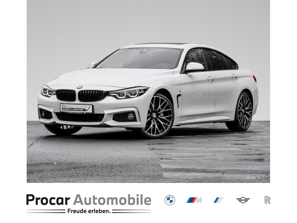 BMW 440i GRAN COUPE+M-SPORT+HUD+H/K+ADAP.LED+GLASDACH+PDC, Jahr 2018, Benzin