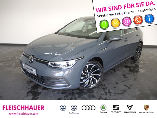 Volkswagen Golf VIII Style 1.5 TSI IQ Light Pano UPE40.225, Jahr 2020, Benzin